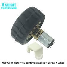 <b>N20</b> DC <b>Gear Motor</b> 15 600RPM With Motor <b>Wheel</b> Plastic Bracket ...