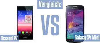 Vergleich: Huawei Ascend P7 und Samsung Galaxy S4 Mini