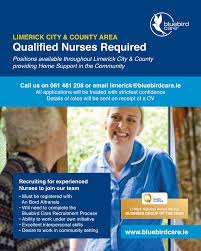 bluebird care limerick recruiting nurses excellent interpersonal skills desire to work in community setting bbc limerick nurses ad feb2014