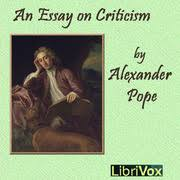 Alexander Pope s ESSAY ON CRITICISM    A FrenchQuarterLit com     An Essay on Criticism  Amazon co uk  Alexander Pope                 Books