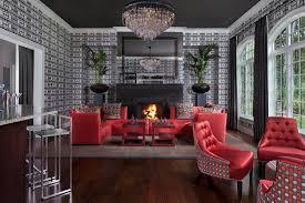 deco living room high ceiling interior