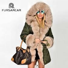 <b>FURSARCAR</b> 2019 <b>New Winter</b> Parka Luxury Women Natural Fur ...