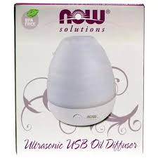 Now Foods, <b>Solutions</b>, Ultrasonic <b>USB Oil</b> Diffuser, 1 Diffuser