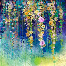 999Store <b>Framed Printed Abstract</b> Flower Art Canvas Painting ...
