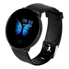 <b>D19 Smart Watch Women</b> Heart Rate Blood Pressure Black Smart ...