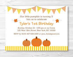 pumpkin fall harvest printable birthday invitation editable pdf a339