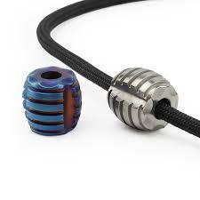 1PCS <b>Titanium Alloy</b> Small Knife <b>Beads Paracord Bead</b> Umbrella ...