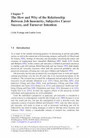 the how and why of the relationship between job insecurity development psychological educational and sociological perspectives on success and well being in career development