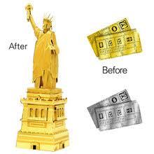 3D металлические <b>сборные модели DIY</b> наборы Америка Статуя ...