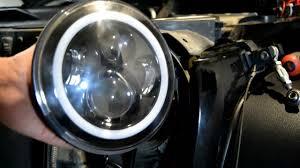 Jeep JK LED projector halo headlight install - YouTube