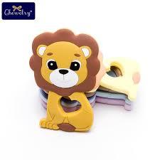 <b>5pc</b> Baby <b>Silicone Teether</b> Lion Pendant Food Grade Perle Silicone ...