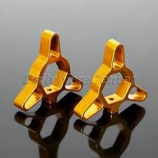 Pair Gold <b>17mm</b> Motorcycle Fork Preload Adjusters Kit <b>CNC</b> ...