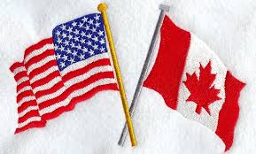 Image result for us and canada flags
