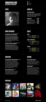 typographic cv template by denoizzed on typographic cv template by denoizzed