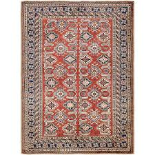 """Isabelline One-of-a-Kind Alayna Hand-Knotted 4'6"""" x 6'6"""" Wool <b>Red</b> ..."""