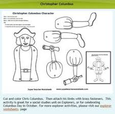 Free printable Christopher Columbus hat pattern    Sonlight Core D     FREE Christopher Columbus color  cut and paste craft from Super Teacher Worksheets