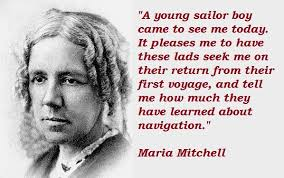 Greatest five stylish quotes by maria mitchell image English via Relatably.com