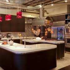 nice kitchen design with modern kitchen cabinets and pendant lighting plus mosaic tile backsplash and ventahoods backsplash lighting