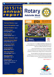katron creative annual report design adelaide south rotary club of adelaide westannual reports for businesses associations clubs charities colourful portrayals of your year s successes