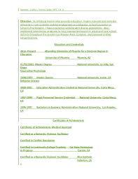 cathy resume