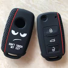 Dont Touch My Key Silicone Keyless Remote Cap Cover <b>For VW</b> ...