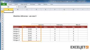 excel tutorial how to use absolute references example 2 from the video how to use absolute references example 2