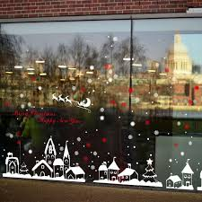 diy home <b>decor</b> new <b>snow</b> town <b>christmas</b> wall <b>stickers</b> window