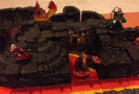 tabletop review dwarven forge cavern tiles lava cavern and finally here is a look at the elevation and lava cavern tiles being used in conjunction the lava river and base set tiles to make a lava themed
