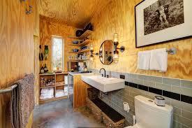 plywood decor plywood walls bathroom industrial interesting ideas with industrial fixtures steel angle shelf