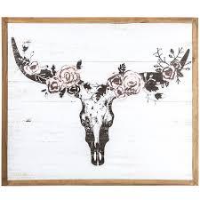 <b>Floral</b> Longhorn <b>Skull</b> Wood <b>Wall Decor</b> | Hobby Lobby | 1394535