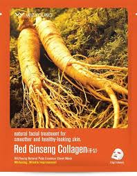 <b>Маска тканевая Красный</b> женьшень&Коллаген WizYoung Natural ...