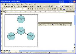 create sophisticated professional diagrams in microsoft word    once you insert a diagram into your document  you    ll see the work area and the diagram toolbar