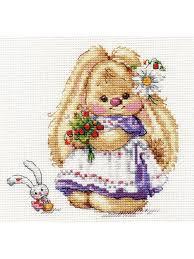 """<b>Набор для вышивания</b> """"Зайка Ми. Земляника"""" 13х13 см. <b>Алиса</b> ..."""