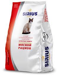 <b>Корм</b> для кошек <b>Sirius</b> Мясной рацион для взрослых кошек ...