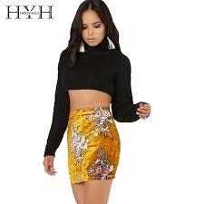 <b>HYH HAOYIHUI</b> Brand <b>2018</b> Women Gold Floral Printed Velvet <b>Sexy</b> ...