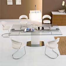 round extending glass dining table