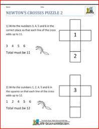 Math Puzzles PrintableMath Puzzles 2nd grade image