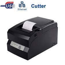 76mm wired dot matrix printer machine high quality 9 pin rolls receipt printer with cutter for buy matrix high office