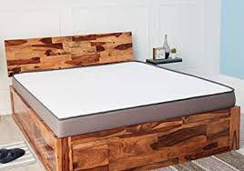 Wakefit Andromeda <b>Sheesham</b> Bed with Storage (King Size Bed ...