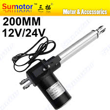 L200 <b>8 inch 200mm stroke</b> Electric linear actuator DC <b>12V</b> 24V 5 10 ...