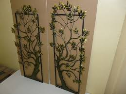 tree scene metal wall art: