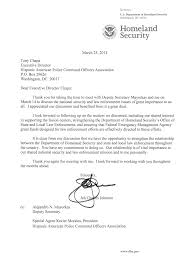 hispanic american police command officers association letter letter from the secretary of homeland security