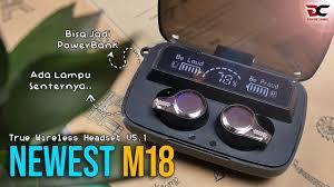 <b>TWS</b> Earphone Nge-Blink !! Banyak Fiturnya | <b>NEWEST M18</b> ...