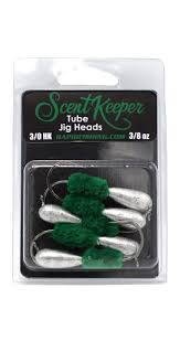 Scent Keeper <b>Tube</b> Jig Heads <b>3/8</b> oz <b>5</b> pack - Rapid Fishing Solutions