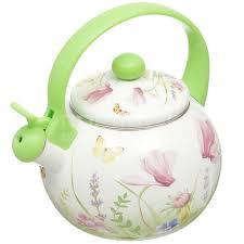 <b>Чайник эмалированный</b> Appetite Примавера FT7-PR <b>со свистком</b> ...