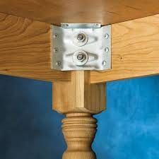 hardware dining table exclusive: surface mount corner brackets for table aprons
