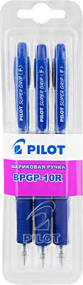 <b>Ручки</b> шариковые <b>PILOT BPGP</b>-<b>10R</b>-<b>F</b>, 0.5мм, 3шт. син. блист ...