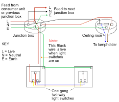 two way light switch method 2 two way lighting circuit using junction boxes