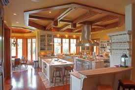 inspired kitchen cdab white brown: great idea of rustic kitchen ceiling ideas with brown floor