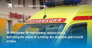В Москве 8-летнему мальчику воткнули <b>нож</b> в спину во время ...
